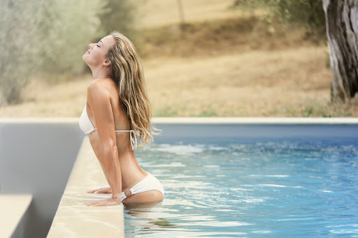 Woman in swimming